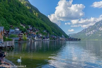 Villaggio e lago di Hallstatt, Austria